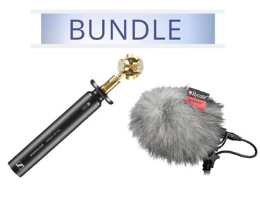 Sennheiser Ambeo VR microphone with Rycote BBG and Windjammer
