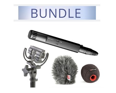 Sennheiser MKH50 with Rycote Baseball, Windjammer and mount