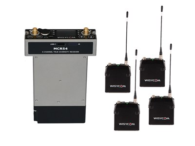 Wisycom MCR54 4 Channel Radio Mic Kit