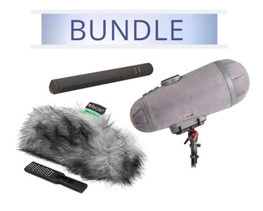 Sennheiser MKH8060 with Rycote Medium Cyclone Windshield kit