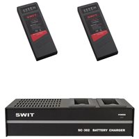 Swit 302 Charger and 2 x NP1 Battery Bundle