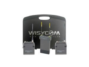 Wisycom 2 channel radio mic kit